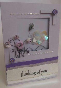 Swan lake card handmade by monkeymaid