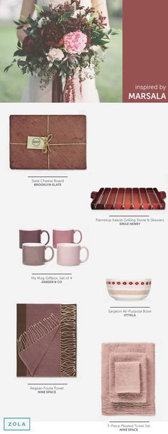 Since this year's color is Marsala, we pulled together our favorite wedding registry picks in this hue. Check them out on our blog.