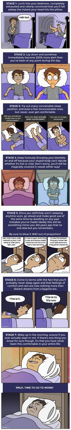 The 7 Stages of Not Sleeping at NightRead More ➤ http://back.ly/6NQxK