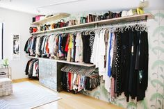 Take a look at Celeb Whitney Port from MTV The Hills reality shows boutique style closet designed by LA Closet Design! Master Closet, Closet Bedroom, Closet Space, Walk In Closet, Closet Wall, Bathroom Closet, Closets Pequenos, Rangement Makeup, Open Wardrobe