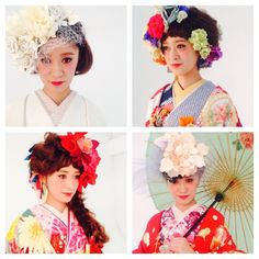 The Sweet Closet ♡の画像 Japanese Wedding, Hair Arrange, Kimono Dress, Headpiece, Bridal Hair, Wedding Hairstyles, Short Hair Styles, Wedding Day, Updos