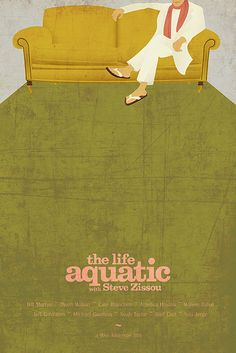 The Life Aquatic poster designed by Ibraheem Youssef