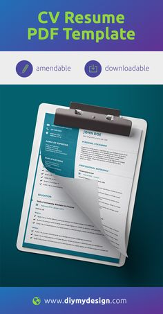 Download this easily amendable template on our website www.diymydesign.com  No special software or design skills required to amend this. All you need is a PDF reader.  #resume #cv #template #resumetemplate #modernresume #cvtemplate #moderndesign