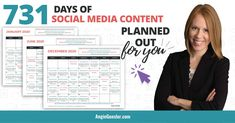 Save hours of time and stress with the Social Media Content Calendar. It's 731 days of post ideas planned out for you in an editable and customizable format to fit your business needs. Online Marketing Tools, Social Media Marketing Business, Internet Marketing, Make A Proposal, Social Media Content, How To Plan, Learning, Calendar, Stress