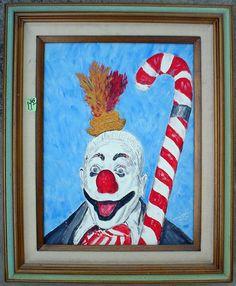 Ghastly. Bad Art, Clowning Around, Candy Cane, Haha, Weird, Clowns, Funny, Painting, Barley Sugar