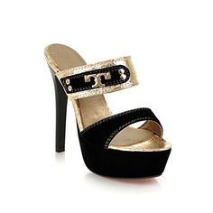 FDFAF Fashion high heels slippers platfrom shoes sandals party wedding shoes large size 3443 Black 10 ** Visit the image link more details.-It is an affiliate link to Amazon. #WeddingShoes