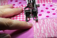Looking to start quilting with a presser foot? These 6 steps will teach you how to use a presser foot for stitch-in-the-ditch quilting.