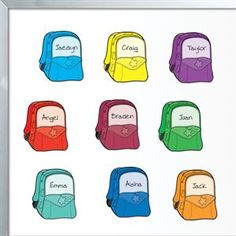 Student Name Backpack Magnets by Really Good Stuff Inc Organization And Management, Classroom Organization, Classroom Management, Classroom Decor, Discount School Supply, Really Good Stuff, School Lockers, Teacher Supplies, French Immersion