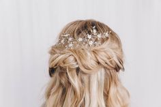 Small Gold, Silver Or Rose Gold Wedding Hair Vine Ivy