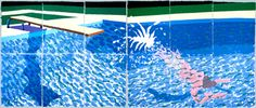David Hockney. A Large Diver (Paper Pool 27), 1978