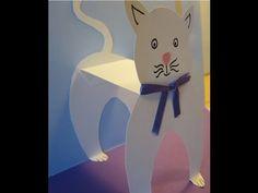 DIY kort: Gaver & Katte pop up kort