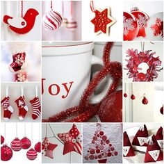 Beautiful red and white Christmas Mosaic