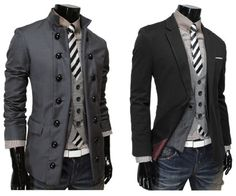 Dapper Mens coats <3 the one on the left would look so good on kevin