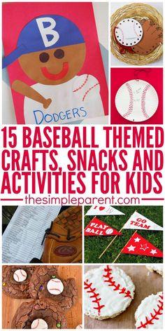 Baseball crafts kids, baseball games for kids, sports activities for kids,
