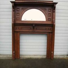 Antique Arts & Crafts Carved Oak Fireplace Mantel | Antique ...