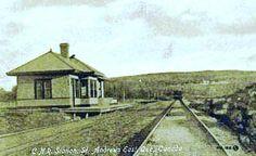 ST-ANDREWS EAST, QUÉBEC - CNR St. Andrew s East (Saint-André-Est) 1900-1940