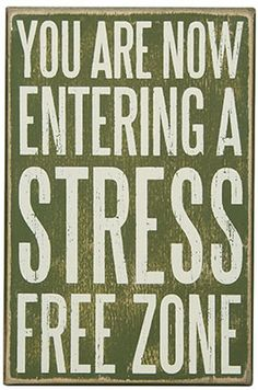 Stress Free Zone Box Sign : Log Cabin Styles