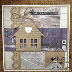 Handmade By Rimmie: Home Sweet Home Tiny Little Houses, New Home Cards, Marianne Design, Moving House, New Job, Diy Cards, House Warming, Congratulations, Sweet Home