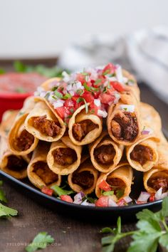 Chicken Taquitos with Cream Cheese