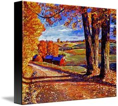 """Autumn Evening"" by David Lloyd Glover.  Take a stroll through more of our stunning canvas prints on www.imagekind.com!"