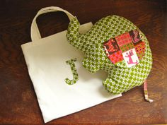 Personalised baby gift  Elephant plush made in door TinyKooka, €29.00