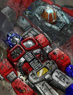 Commission: Optimus Prime by DrewEiden.deviantart.com on @deviantART