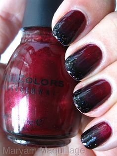 ! Maryam Maquillage !: Black Blood Ombre Nails