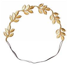 Greek Leaf Headband Greek inspired 18k Gold Plated Wedding Hairstyle Eddera