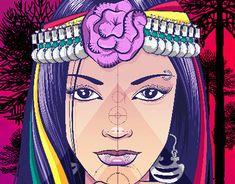 Goddess Mapuche on Behance Illustration Children, Hare Krishna, Indigenous Art, Princess Zelda, Disney Princess, Disney Characters, Fictional Characters, Behance, Tattoos