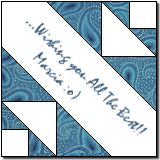 'Siggy Roads' - a block for a signature quilt or a fun label on the back of this quilt pattern