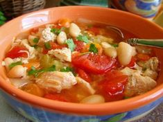 Chicken, Tomato and White Bean Soup