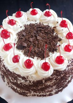 Black Forest Cake Recipe @ http://www.cakengifts.in/black-forest-cake