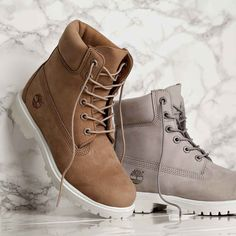 Meet the Footasylum Exclusive Womens Timberland 6 Inch Premium Boot in Bone & Light Grey! Available now online & in store.
