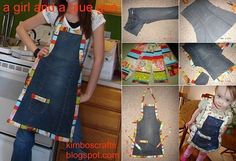 Turn Old Jeans into a Chic Apron - DIY