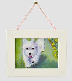 Adorable artwork! :)  Puppy Dog Nursery Art for Kids Baby Nursery Decor by PupsAndPaint, $75.00