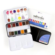 Prima Marketing - Presenting two gorgeous new Watercolor Confection Tins by Prima! This one is Odyssey - bringing us a beautiful collection of colors from around the world.