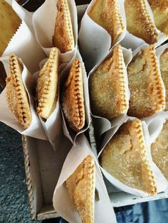 individual hand pies in sleeves - Heather Shannon Drake - Filipino desserts Pop Tarts, Farmers Market Display, Farmers Market Recipes, Bakery Display, Pie Pops, Filipino Desserts, Hand Pies, Food Packaging, Food Truck