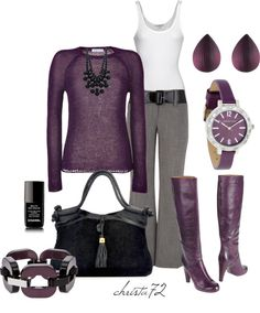 """""""Lavender/Grey"""" by christa72 ❤ liked on Polyvore"""