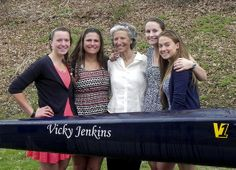 A crew shell was dedicated to girls' coach Vicky Jenkins in May 2014.