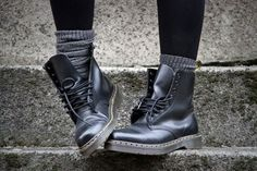 thinking about pulling out those Doc Martins since high school could be cute with slouchy socks?