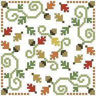 The Floss Box | Biscornu 551 Pdf pattern