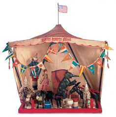 """When the Circus came to Town: 44 American """"Humpty Dumpty Circus""""in Reduced Size by Schoenhut"""