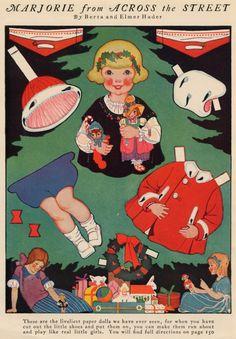 1930's Christmas paper doll. http://muirgilsdream.tumblr.com/tagged/paper-doll