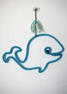 Baleine tricotin : Idée créative épinglée par la mercerie Atelier de la création www.atelierdelacreation.com