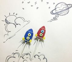 It doesn't take rocket science to build these cake pop rocket ships!