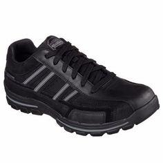 SKECHERS 51138 SCARPE Uomo Sneakers Memory Foam Nero