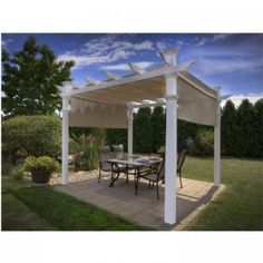 Vinyl Square Gazebo with Canopy Soft Top