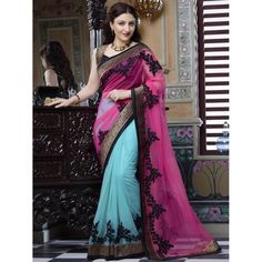 Classy Georgette & Net Embroidered Work Festive Wear & Party Wear Saree at just Rs.1140/- on www.vendorvilla.com. Cash on Delivery, Easy Returns, Lowest Price.