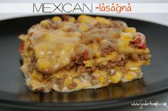 Easy Mexican Lasagna Recipe. Great for easy back to school meals! www.jaderbomb.com
