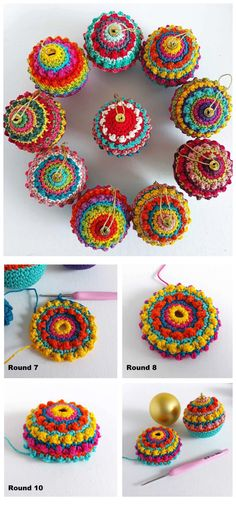 Crochet Christmas Boho Baubles - Crochet Kingdom